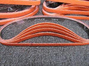 "(50) NORTON Sanding Belt 1/2""w, x 24""L 40 Grit Plyweld R980P Blaze, Orange (C)"