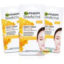 3x Garnier Dry Skin Care Repairing Active Facial Face Mask 8ml Honey No Paraben