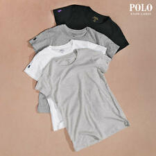 2e0ed2da0bc2 Polo Ralph Lauren Womens White Logo Crew Neck T-shirt Top L BHFO 8466