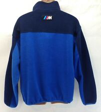 BMW M Power Mens XL Blue 1/4 Zip Fleece Pullover Jacket Apparel