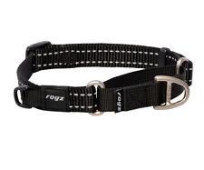 ROGZ Utility Control Web Dog Collar - Black 4 sizes
