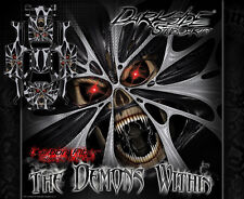"TRAXXAS X-MAXX GRAPHICS WRAP DECALS ""THE DEMONS WITHIN"" WHITE CARBON EDITION"