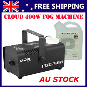 DL 400w Smoke Machine with Wired Remote and 1L Smoke Liquid for Home Party