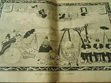 Les Sept Pêchés Capitaux La Paresse Benjmain Rabier Humour Print 1899