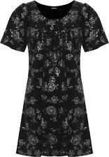 Magliette da donna a manica corta nera in poliestere