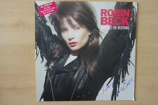 """Robin Beck Autogramm signed LP-Cover """"Trouble Or Nothing"""" Vinyl"""
