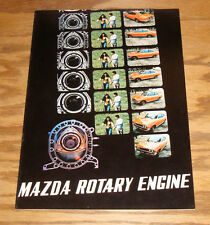 Original 1972 Mazda Rotary Engine Sales Brochure 72 RX-2 RX-3