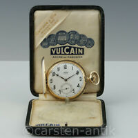 "Ditisheim & Co. 18k Gold Savonnette ""Chronometre Vulcain"", Original Box"