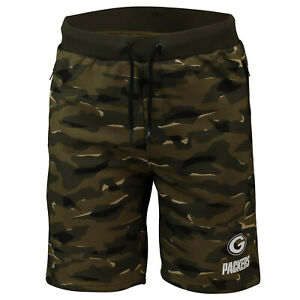 NFL Shorts Trousers Green Bay Packers Digi Camo Camouflage Training Football