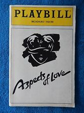 Aspects Of Love - Broadhurst Theatre Playbill - July 1990 - Michael Ball - Crumb