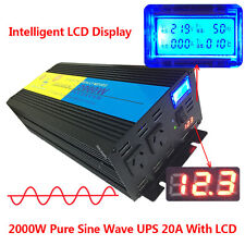 4000W peak 2000W Pure Sine Wave Power Inverter 12V DC to 240V AC LCD/UPS/Charger