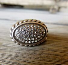 BRIGHTON SACRED LIFE CRYSTAL PAVE RING SIZE 7
