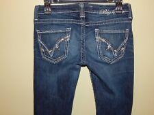"""Women's Big Star """"Sweet Boot"""" Jeans Heavy Stitch Ultra Low Rise Dark Sz 27 L EUC"""