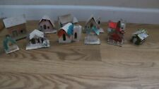 Vintage CHRISTMAS Village PUTZ Houses Church Japan