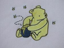 CLASSIC WINNIE THE POOH BABY BLANKET Pink Fleece Hunny Pot Bees 3D