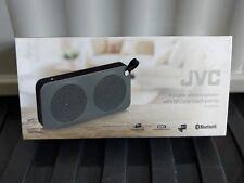 JVC SP-AD60-H Portable Haut-Parleur Bluetooth Sans Fil-Noir/Gris Bordure
