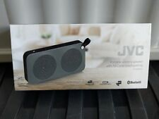 JVC SP-AD60-H Portable Wireless Bluetooth Speaker - Black / Grey Trim