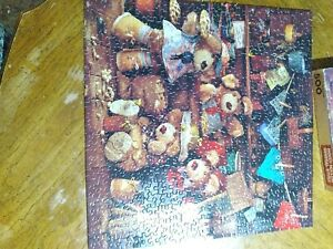Vtg Furskins Bears Moody Hollow General Store 500 Pc Puzzle Complete Springbok