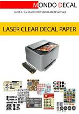 3 FOGLI A4: CARTA TRASPARENTE DECALCOMANIE, WATERSLIDE DECAL PAPER LASER