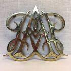 Virginia Metalcrafters Brass Trivet CW10-10 Queen Ann Cypher 10.5' x 9'