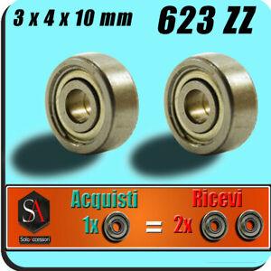 Micro cuscinetti a sfera ball bearing misure 3x4x10 mm 623zz stampante 3d reprap