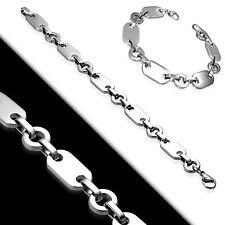 Damen Armband Edelstahl Edelstahlarmband Karabinerverschluss 20 cm 1,2 cm silber