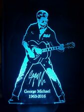 George Michael Faith Engraved Acrylic LED lamp