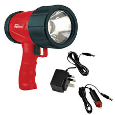 DRAPER 1W LED RECHARGEABLE SPOTLIGHT TORCH -AC/DC CHARGERS - 48 LUMEN = 37 LED