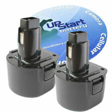 2X BATTERY FOR DEWALT 9.6V 9.6 Volt Drill DE9036 DE9061 DE9062 DW9061 DW9062 NEW