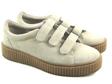 Urban Outfitters Womens Suede Hollie Three-Strap Creeper Platform Sneaker Size 9