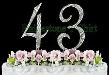 Large Rhinestone NUMBER (43) Cake Topper 43th Birthday Wedding Party Anniversary