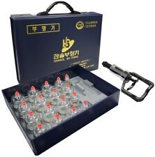 Hansol Bu-Hang Professional Cupping Set (17 Cups) Made in Korea with Extension
