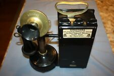 """The Gray Telpay Station Company"" Vintage Kellogg Stick Telephone W/Coin Slots"