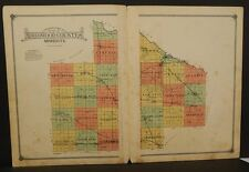Minnesota Redwood County Map 1914 Double Page W3#50