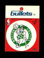 1977-78 Boston Celtics Fleer basketball sticker with card PUZZLE piece on back