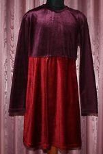 HEARTBEAT ☺ Pannesamt Kleid  ☺ Gr. 134  ☺ *TOP* ☺ unterschiedliche Röttöne ☺