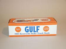 1997 GULF 5th IN SERES 1925 KENWORTH STAKE TRUCK BANK ERTL1:25 DIECAST CHINA MNT