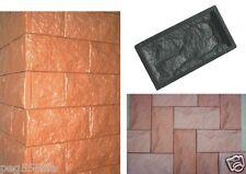 10 Giessformen für Verblender-Schieferstruktur 320/3 für Beton oder Gips