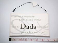 Lucky Dads Wall Plaque Sign Fathers Day Gift Ideas for Dad Men & Him