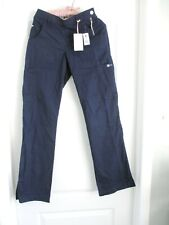 Nwt -Koi by Kathy Peterson 709 Xs Tall flat front Side Zip pants navy blue