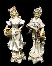 C19th Pair Continental Male and Female Figurines.