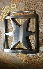 Belt Buckle, Stainless Steel,  Star Hand Made Western