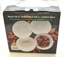 Overandback Porcelain Bowl Set: White | Set of 4 I (EF46)
