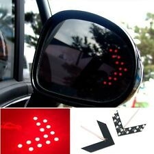 2x Red 14 SMD LED Arrow Panel Rear View Car Auto Side Mirror Turn Signal Lights