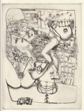 Csaba Kertesz, Original Etching, Untitled Erotica 1977