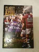 Burnley football Club Football programme special edition