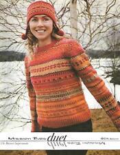 Mission Falls Duet Knitting Pattern Instruction Book Fair Isle Womens XS-XXL NEW