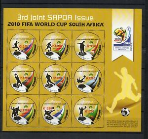 MALAWI, 2021,WORLD CUP,SOCCER,2010, O/P  with new value, K1280  S/S,  MNH,NEW!!