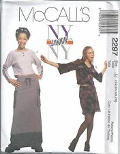 McCall's Sewing Pattern # 2297 Juniors Tops and Skirts Size 1/2 3/4 5/6 7/8