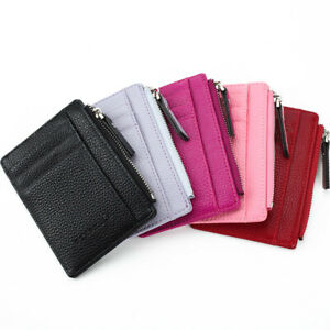 Men's Multi Card Slots Card Bag Women's Money Coin Wallet PU Leather Thin Purse
